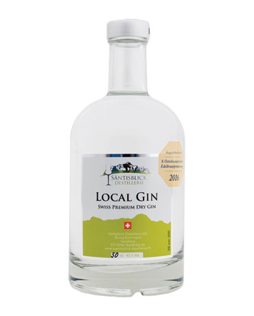 Säntisblick Destillerie, Local Gin, 50cl
