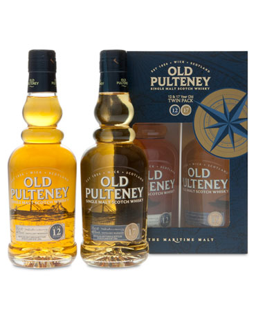 Old Pulteney Twin Pack, Geschenk-Set, 2x 35 cl