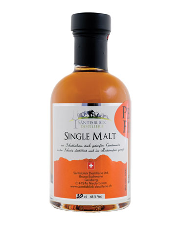 Säntisblick Destillerie, Single Malt, Peat Fire, 20cl
